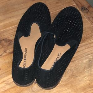 Leather Lucky Brand Perforated Loafer